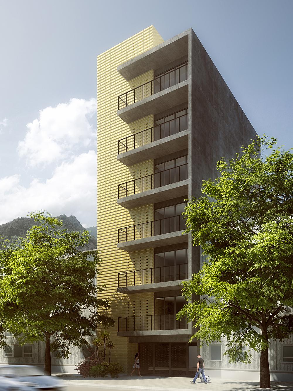 construcción de edificio en Medellín