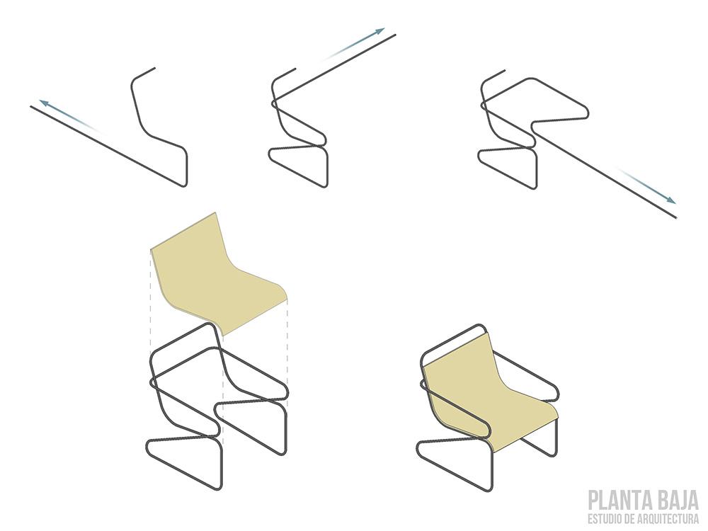 Diseño de sillas modernas
