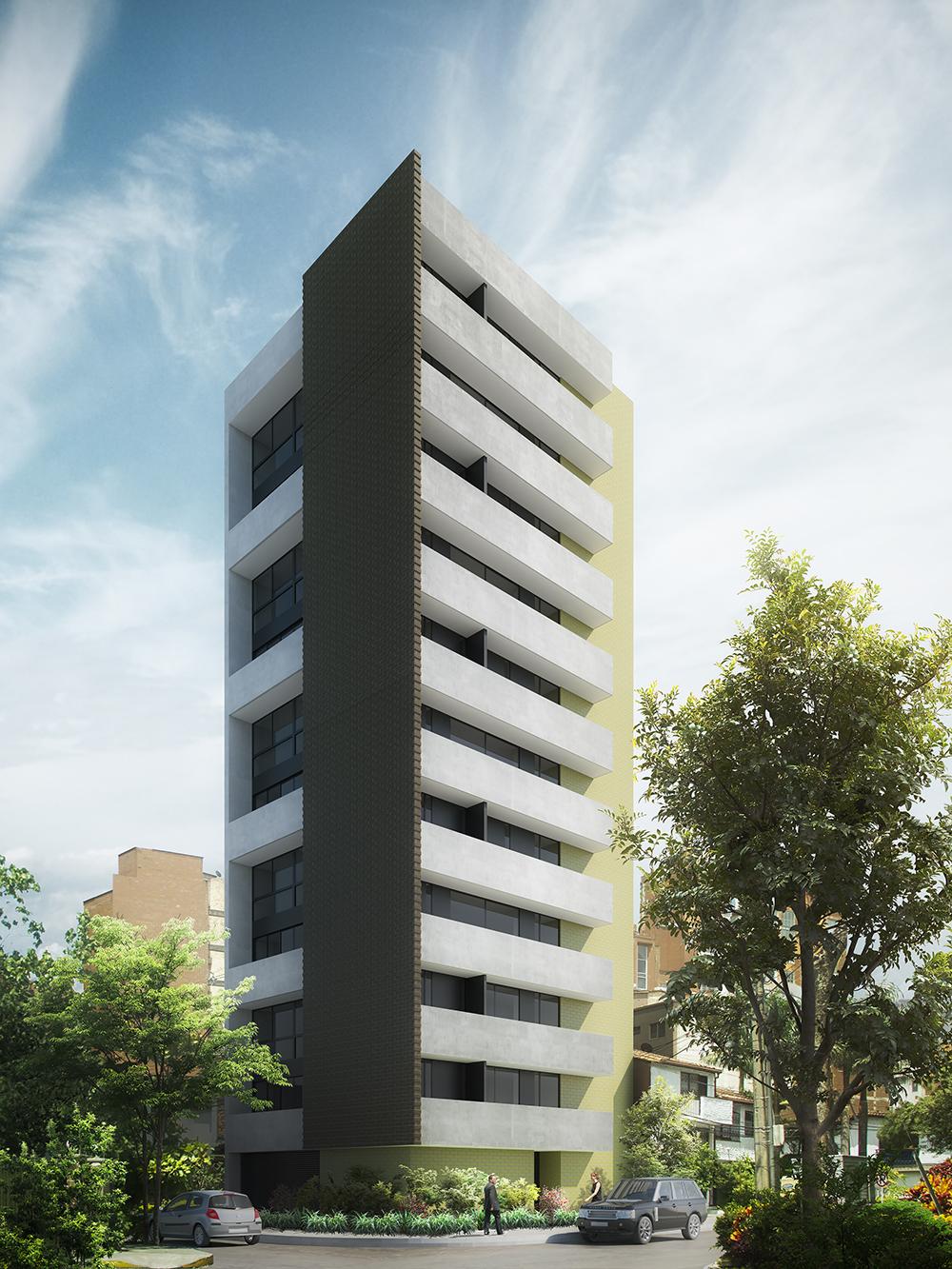 Edificio multifamiliar fachada