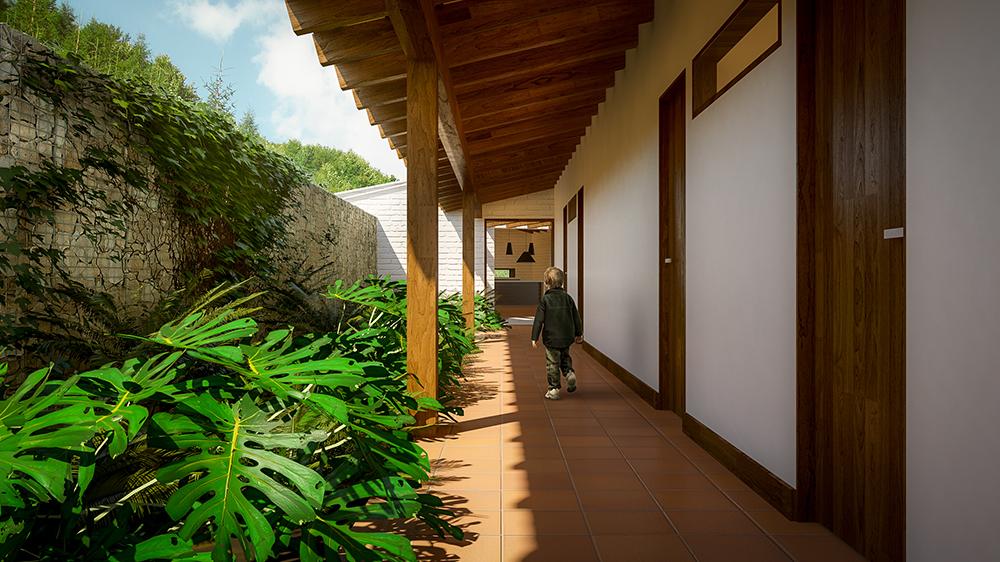 Casa con gran terraza