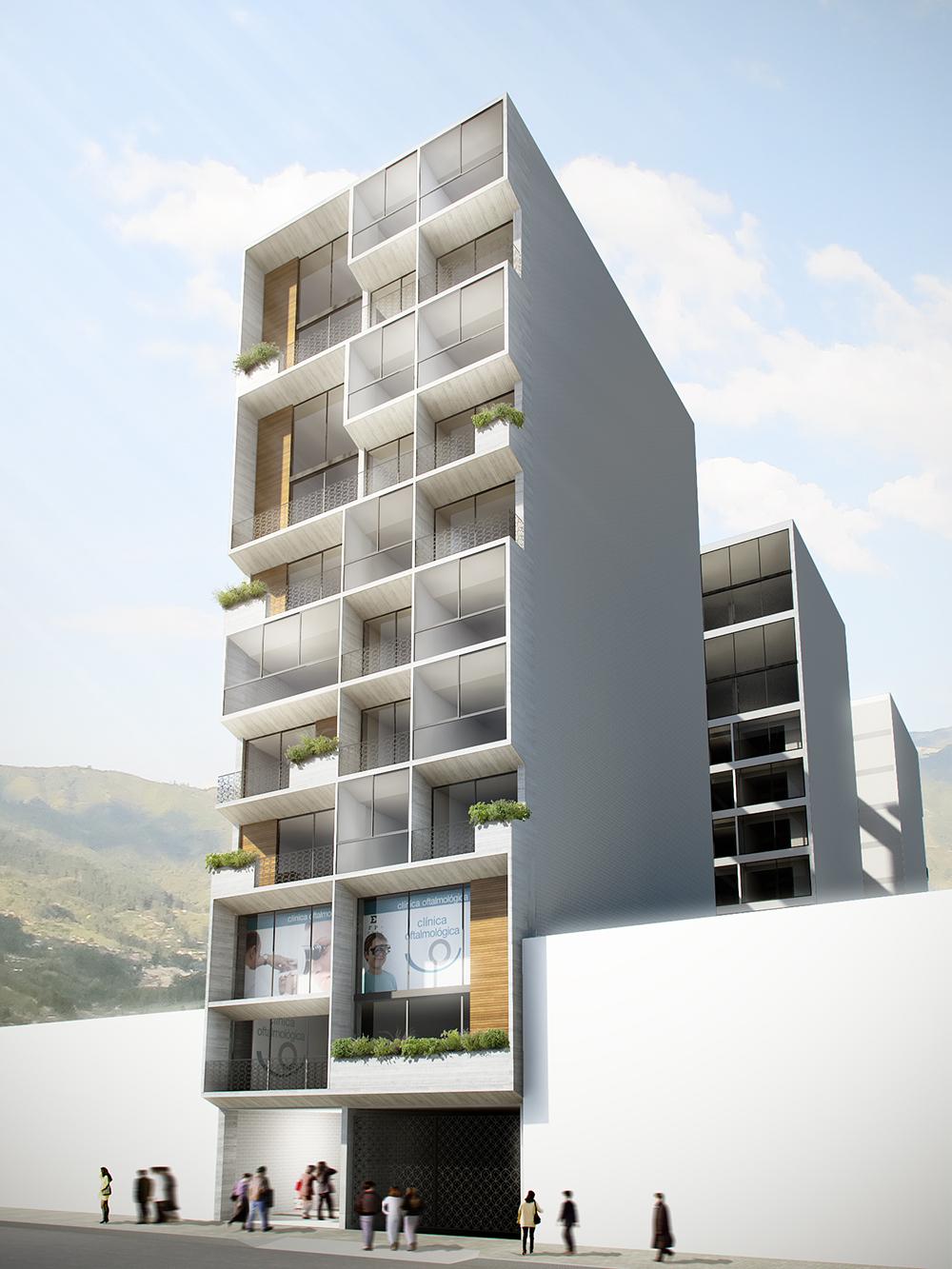 Fachada de edificio diseño