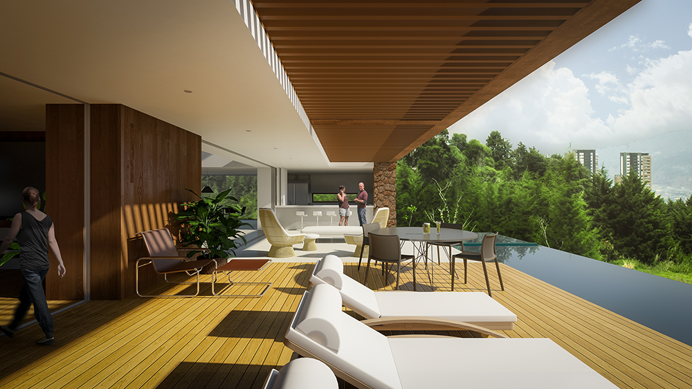 Vivienda con terraza exterior