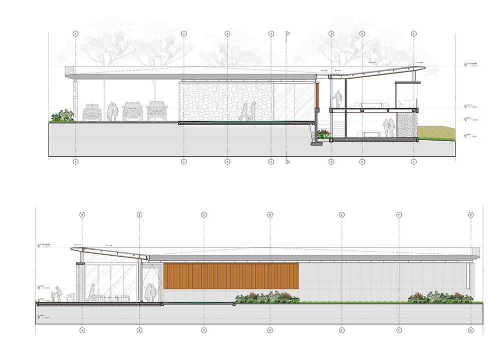 Plano fachada casa