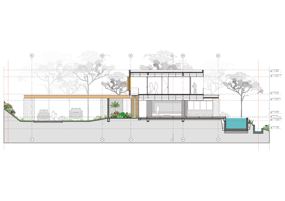 Plano de la fachada