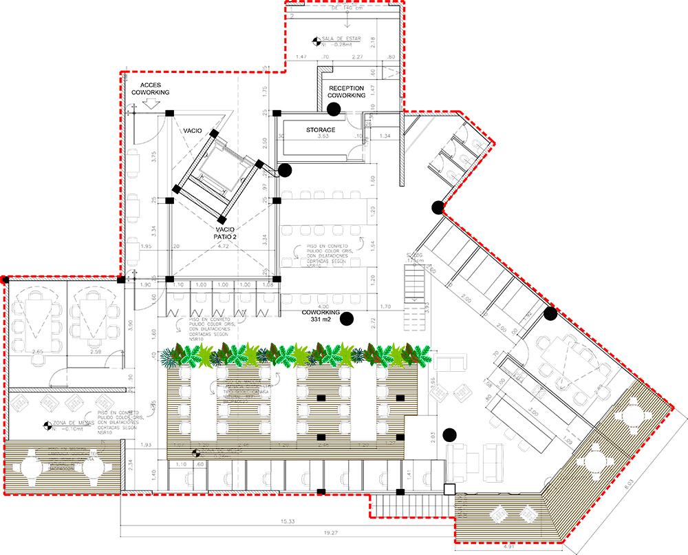 plano arquitectura del hotel