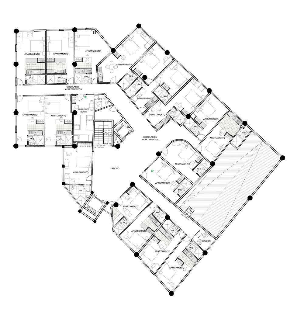 plano planta hotel
