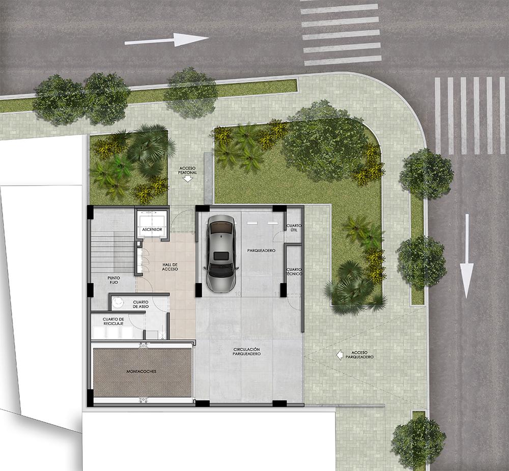 Plano Parking edificio