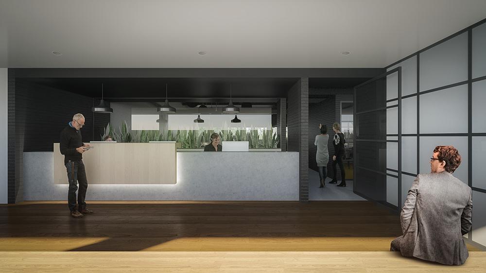 Diseño de interiores recepción