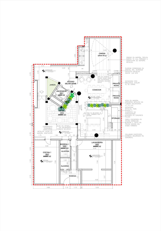 Plano diseño de entrada