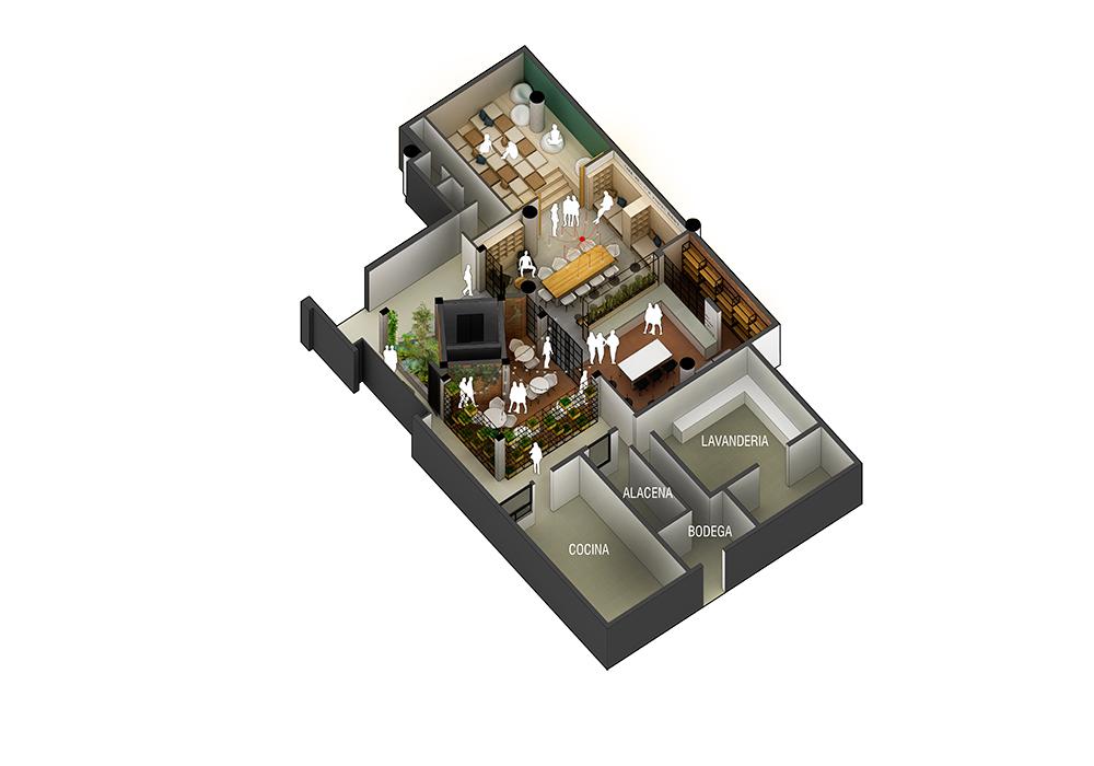 Plano 3D hotel